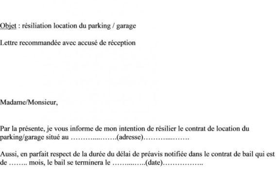resiliation internet lettre type