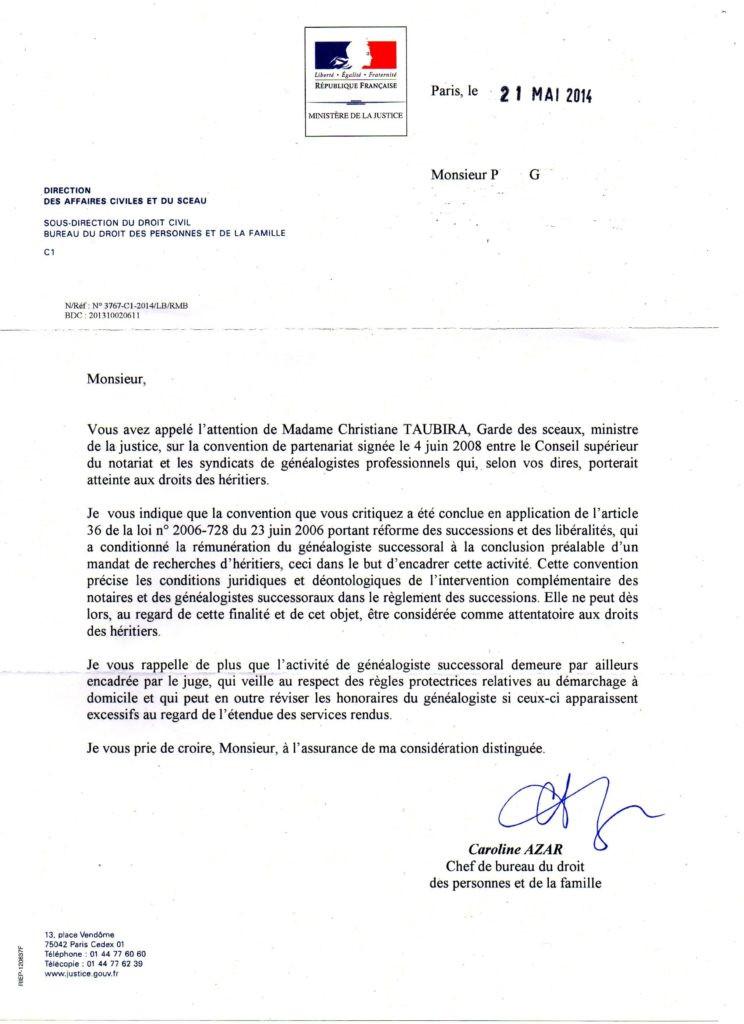resiliation mandat exclusif lettre type