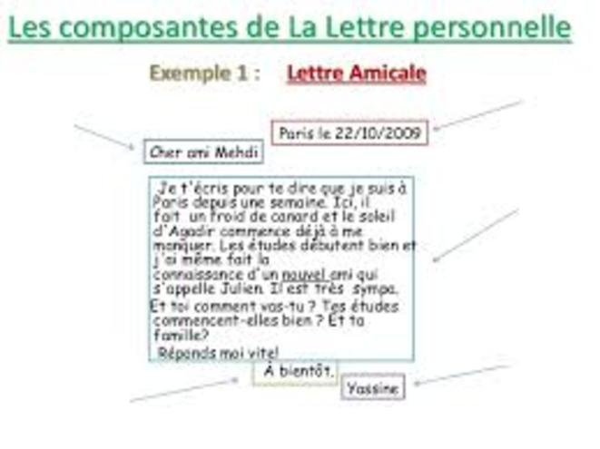 schema de lettre
