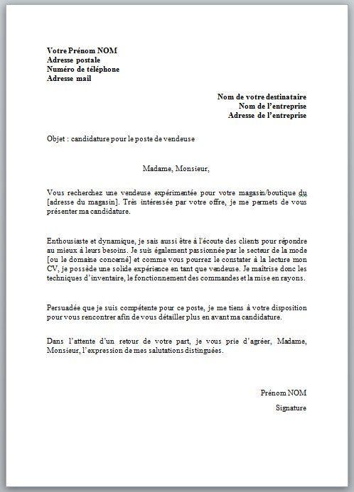 template de lettre