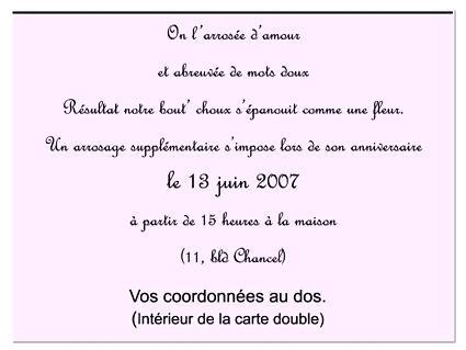 Texte D Invitation Anniversaire Modele De Lettre Type