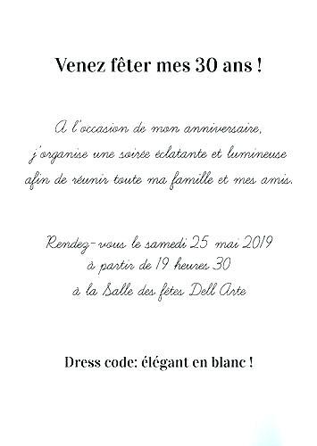 texte invitation soiree anniversaire