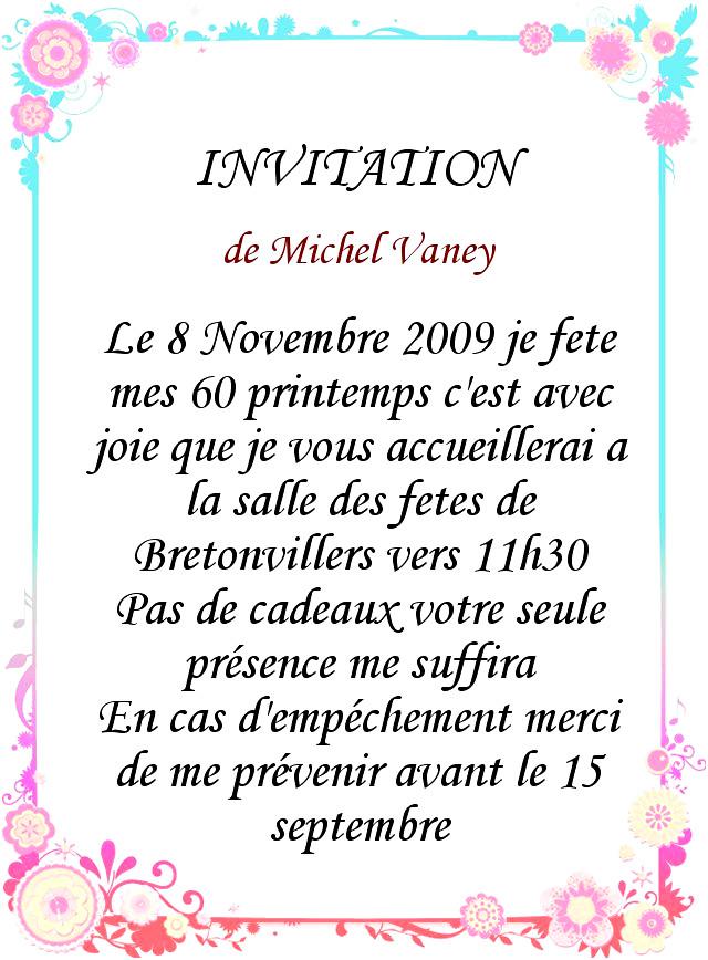 une lettre d'invitation d'anniversaire