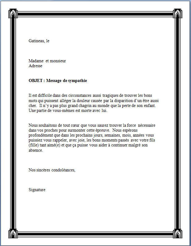 une lettre de circonstance