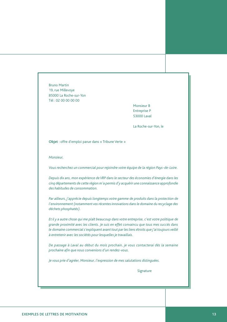 une lettre de motivation de demande d emploi - Modele de ...