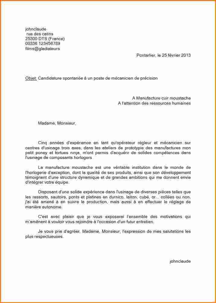 une lettre pour demande d emploi
