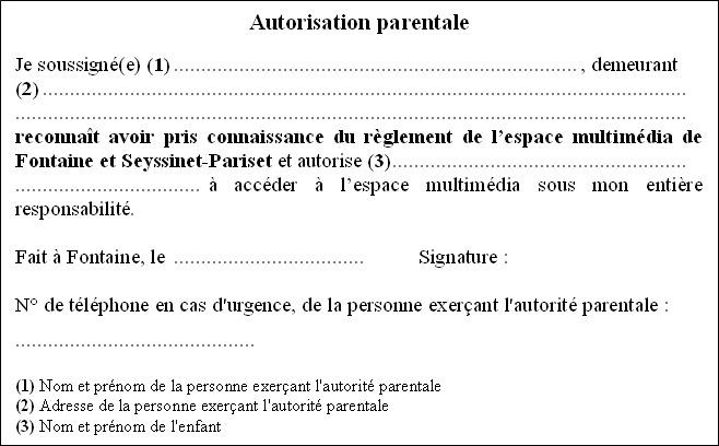 attestation autorite parentale modele