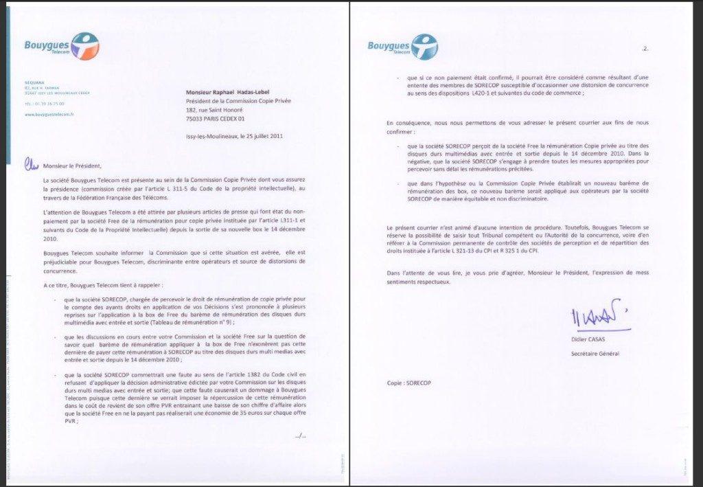 bouygues telecom resiliation lettre