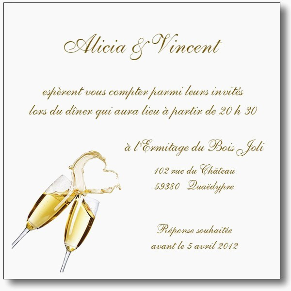 carton d'invitation exemple