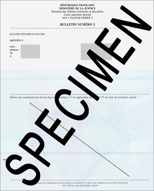 casier judiciaire numero 3 a imprimer