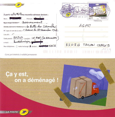 changement adresse courrier la poste - Modele de lettre type