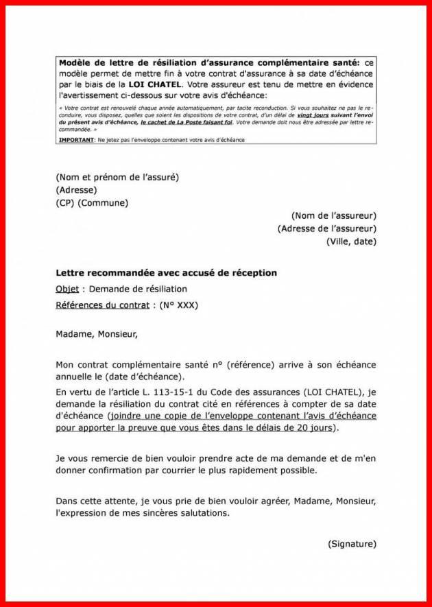 courrier resiliation loi chatel telephonie - Modele de lettre type