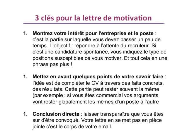 cv plus lettre de motivation