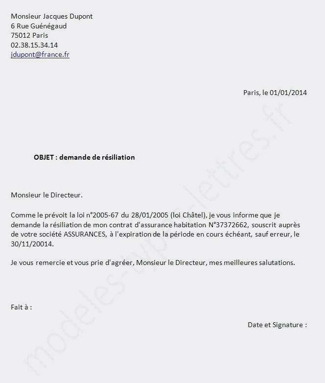 demande de resiliation orange mobile - Modele de lettre type