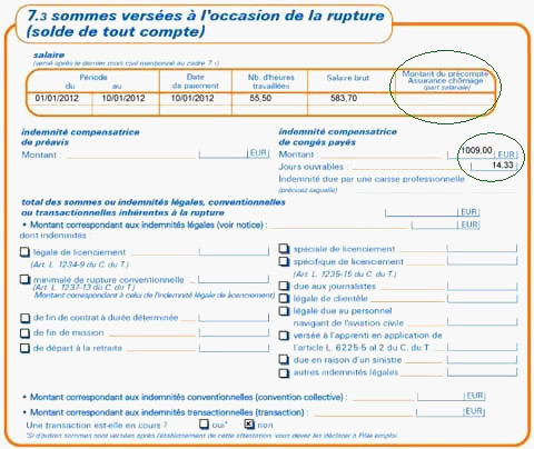 exemple attestation assedic