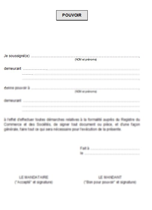 exemple courrier procuration