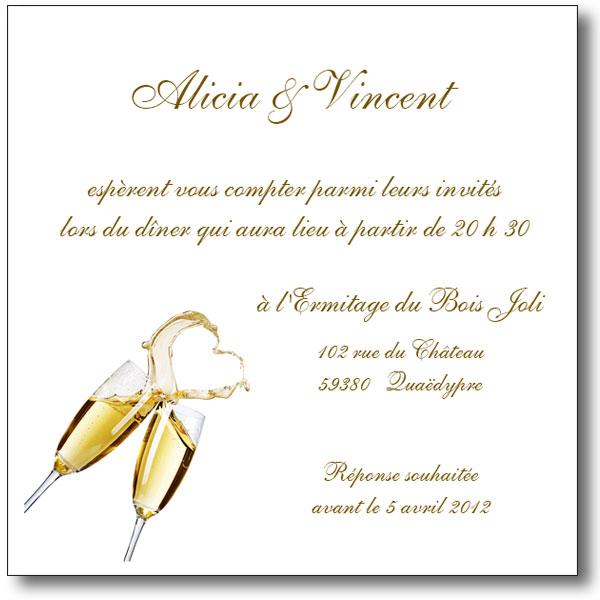 exemple de carton d'invitation