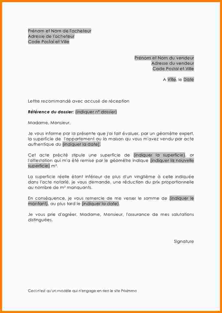 exemple de courrier