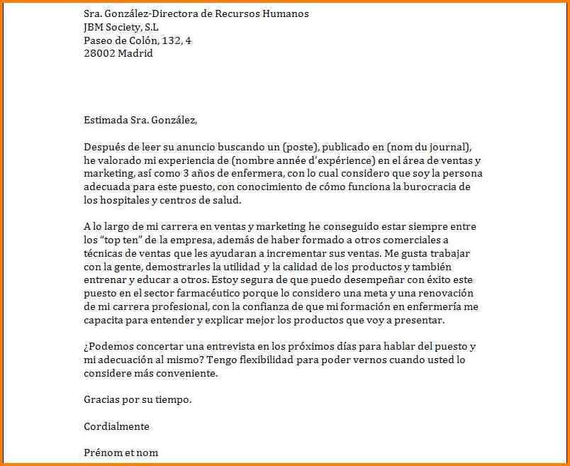 exemple de demande d'emploi en francais - Modele de lettre ...