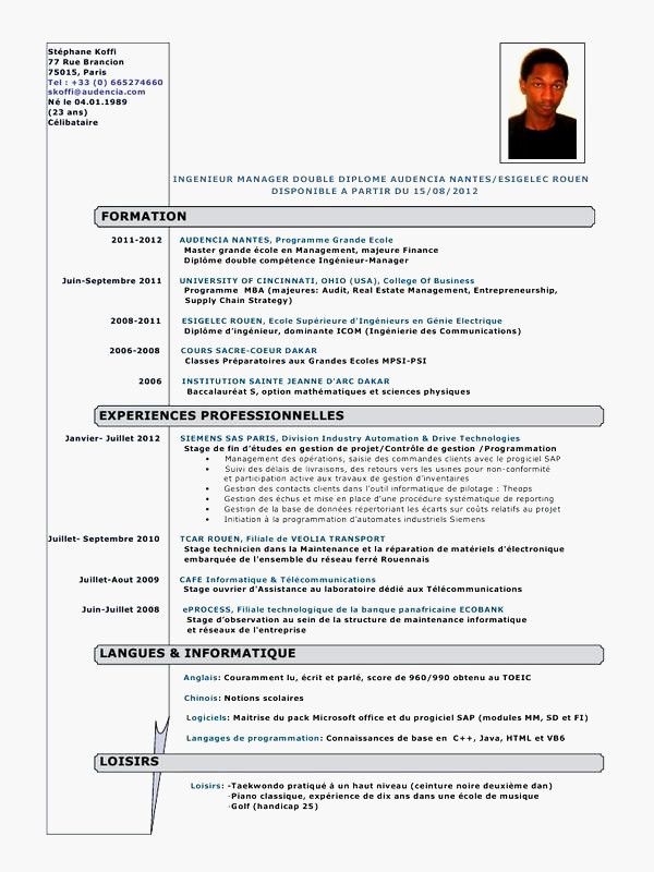 exemple de lettre de motivation pour stage d u0026 39 observation