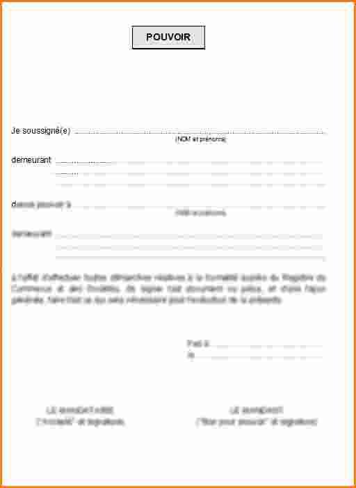 exemple de lettre de procuration pour signature - Modele ...