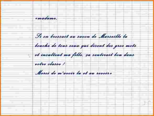 exemple de mot d'excuse pour la piscine - Modele de lettre ...