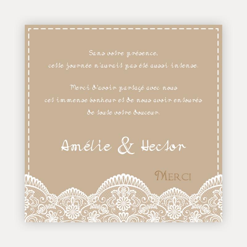exemple de mot de remerciement mariage - Modele de lettre type