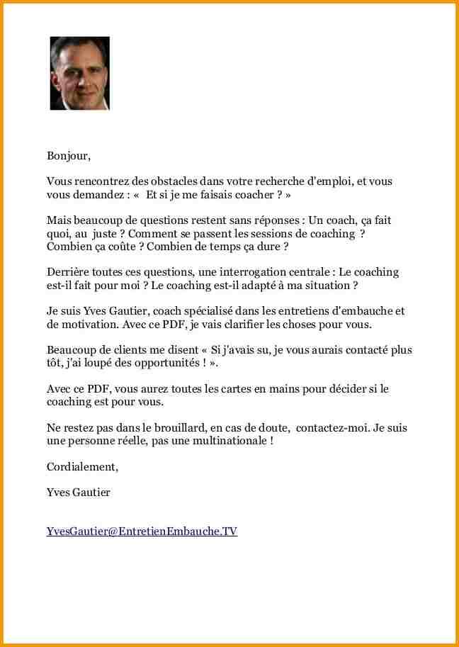 exemple lettre de demande d'emploi pdf - Modele de lettre type