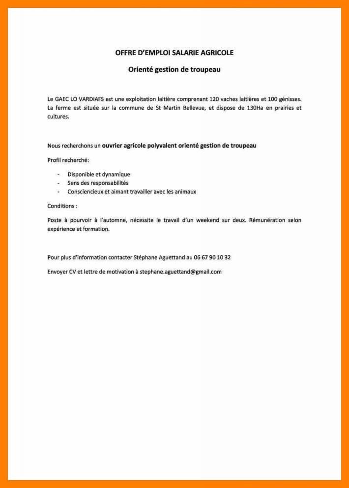 exemple lettre de motivation agroalimentaire - Modele de ...