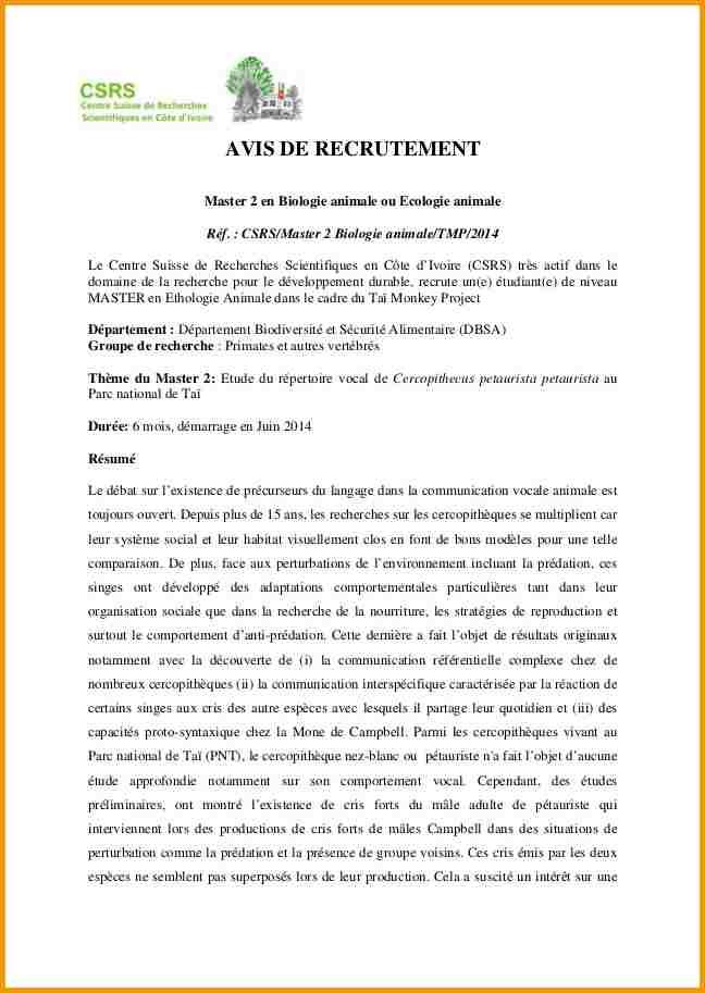 exemple lettre de motivation pour master pdf