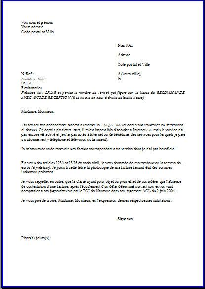 formulaire resiliation free mobile pdf - Modele de lettre type