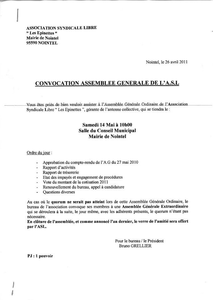 invitation assemblee generale
