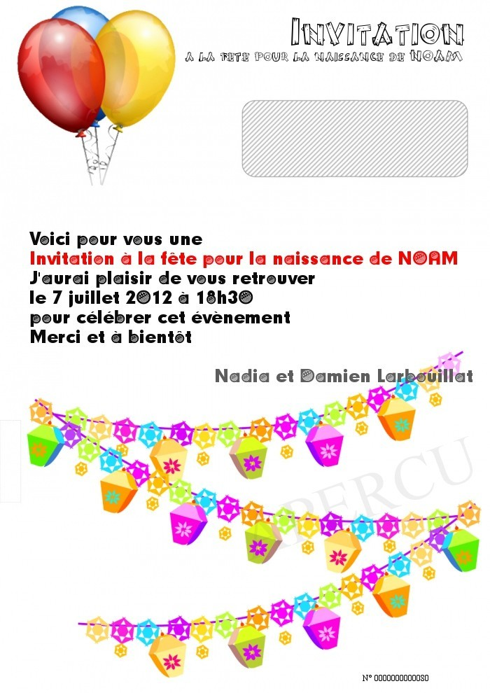 invitation naissance