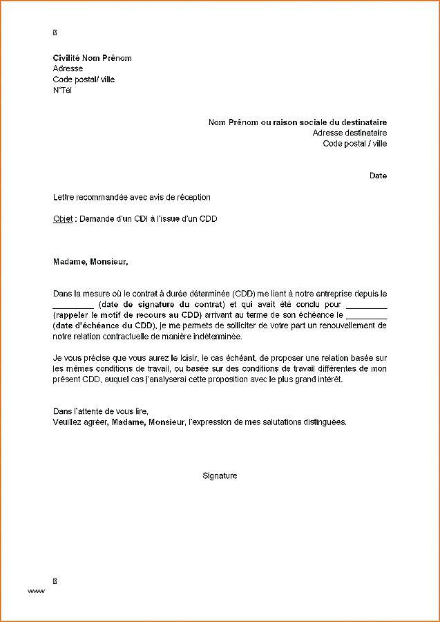 les demande administrative - Modele de lettre type