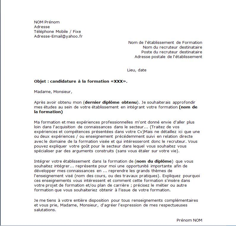 lettre administrative type