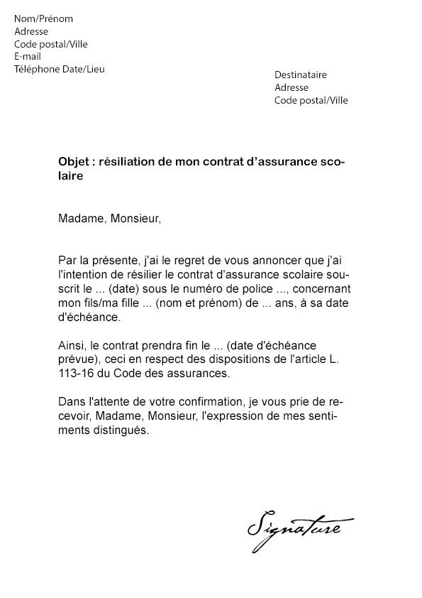 lettre confirmation inscription