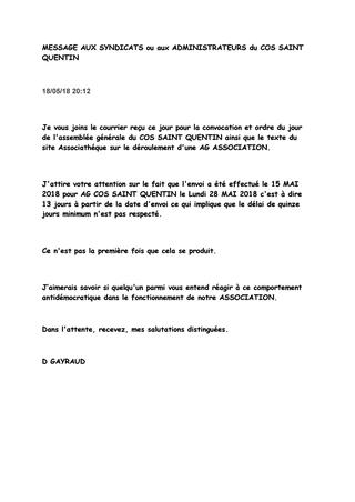 lettre convocation assemblee generale association