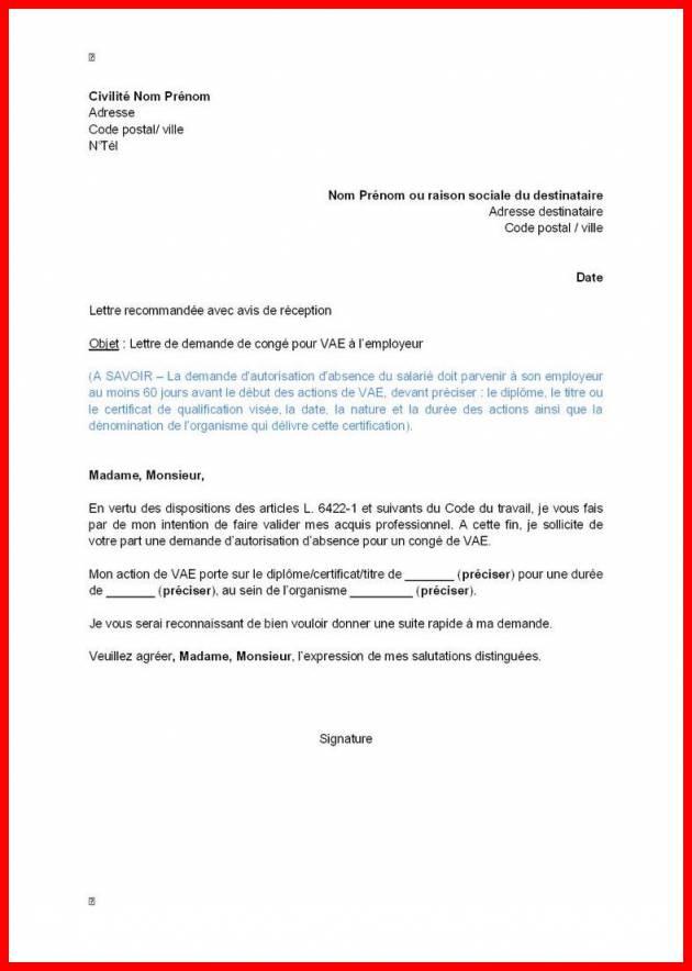 lettre d'autorisation d'absence pour cif