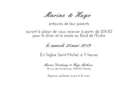 lettre d'invitation soiree