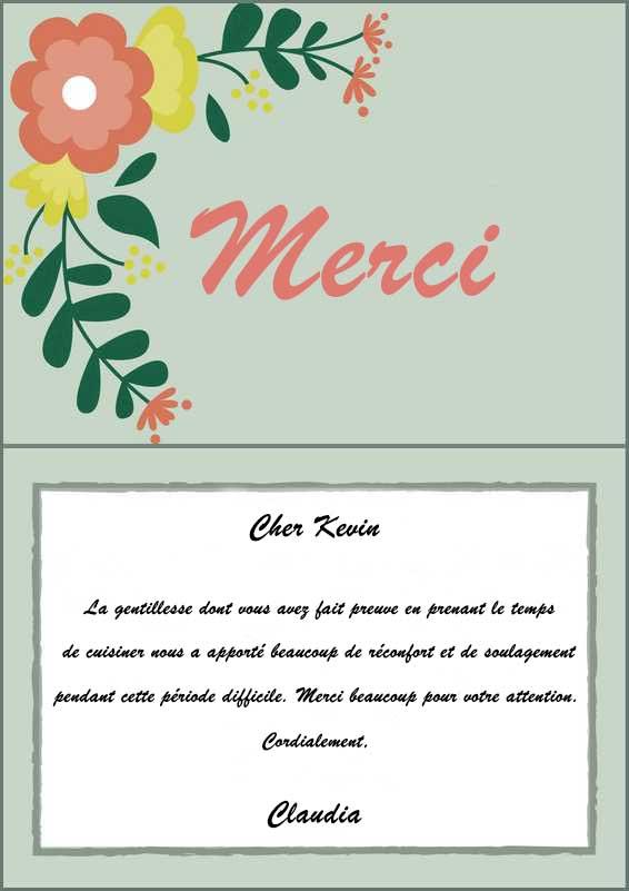 lettre de condoleance exemple