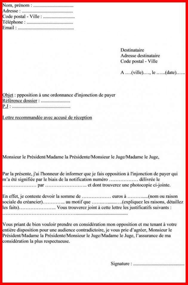 lettre de contestation de paiement gratuite - Modele de lettre type