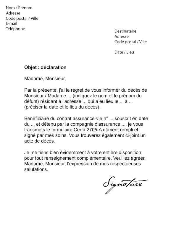 lettre de renon bail