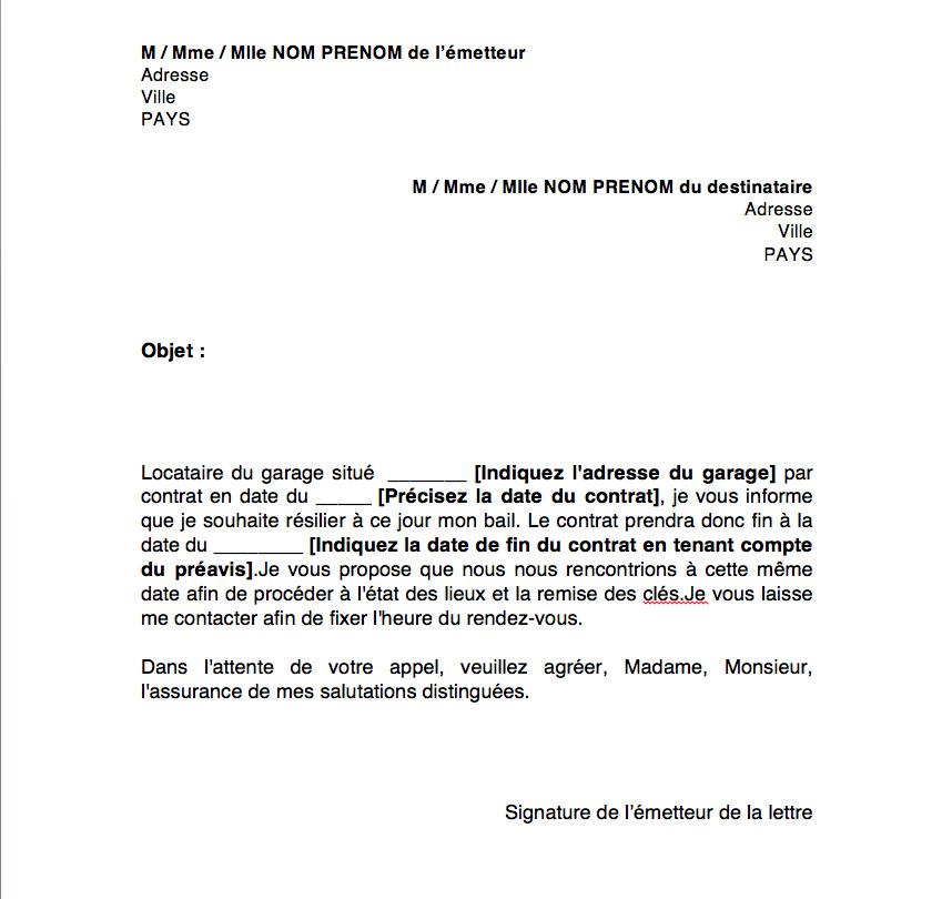 lettre de dedit - Modele de lettre type