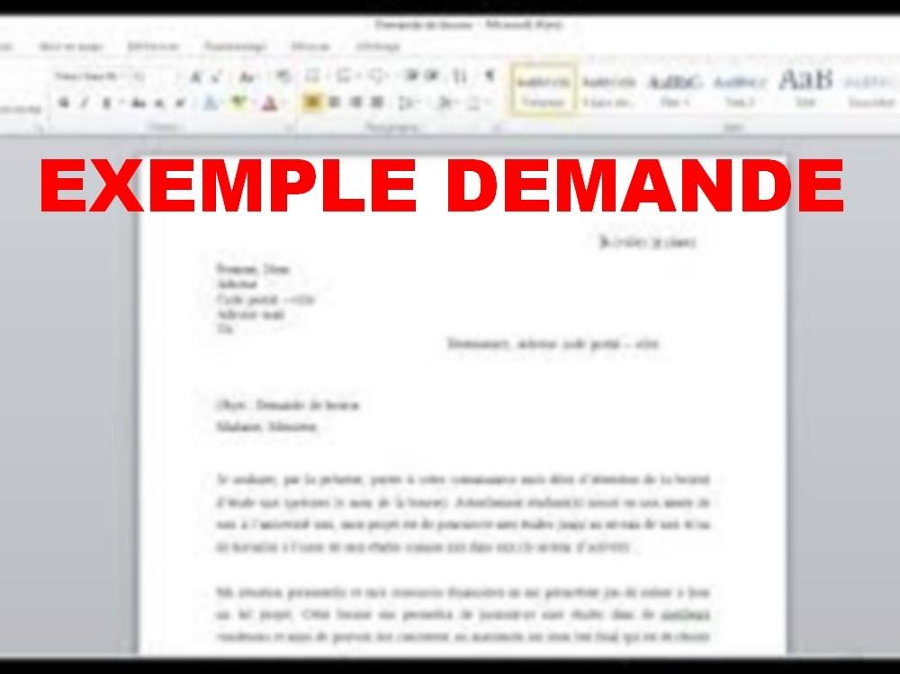 lettre de demande d emploi manuscrite - Modele de lettre type
