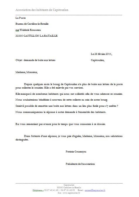 lettre de demande de repos