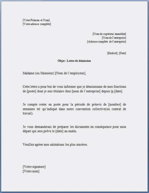 lettre de demission contrat d u0026 39 apprentissage gratuit
