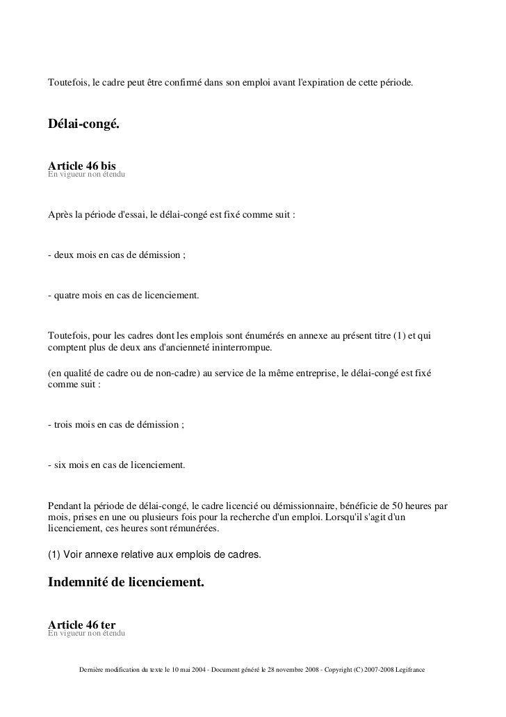 lettre de demission negociation preavis