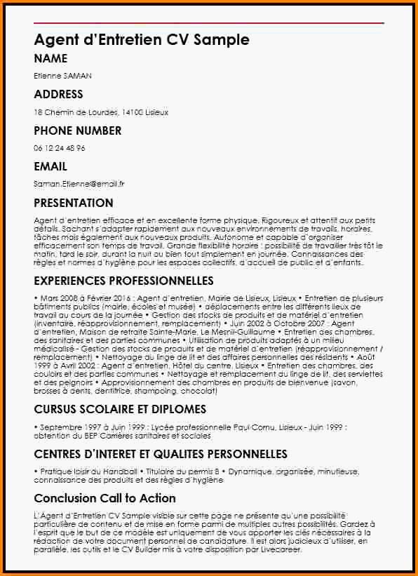 lettre de motivation agent d'entretien sans experience gratuit - Modele de lettre type
