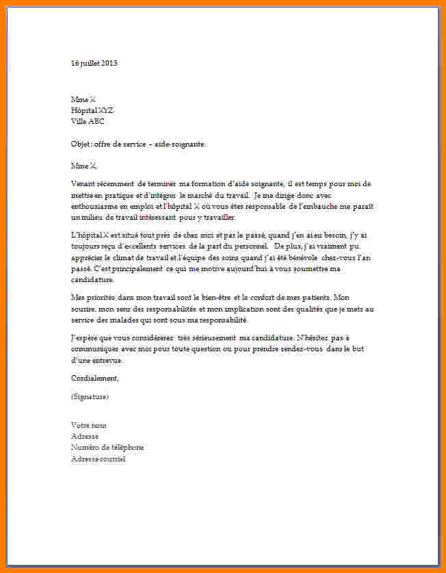 lettre de motivation as