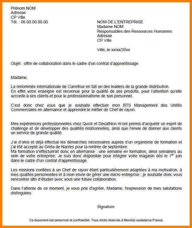 Exemple Lettre De Motivation Chef De Projet Industriel: Lettre De Motivation Bts Ava Modele